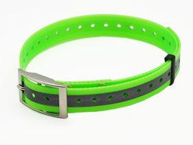 Valgust peegeldav plastikust roheline kaelarihm, 25 mm x 70 cm