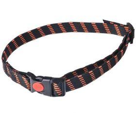 Kummist kaelarihm – must-oranž 20 mm